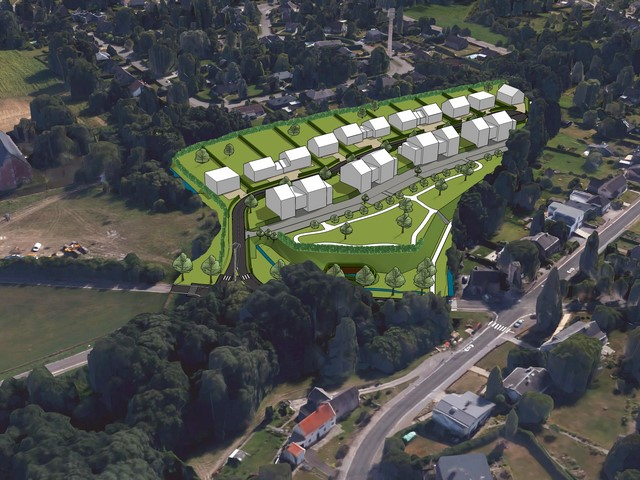 Plan Masse d'un projet d'urbanisation à Heusy