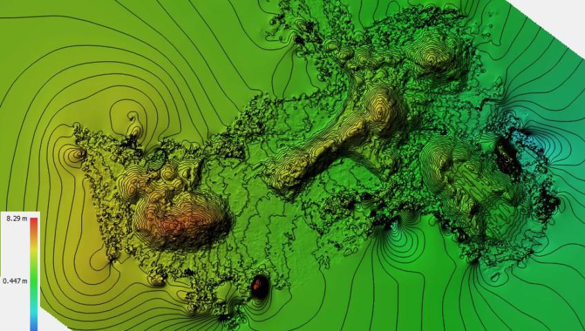 Calculs de cubatures à partir de prises de vues aériennes
