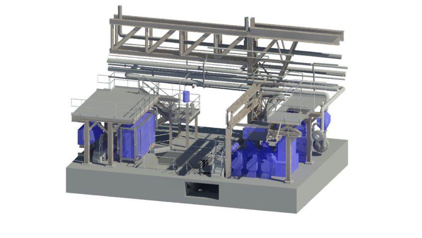 Géotech effectue un projet de rétro-conception (modélisation 3D) dans le cadre d'un revamping industriel
